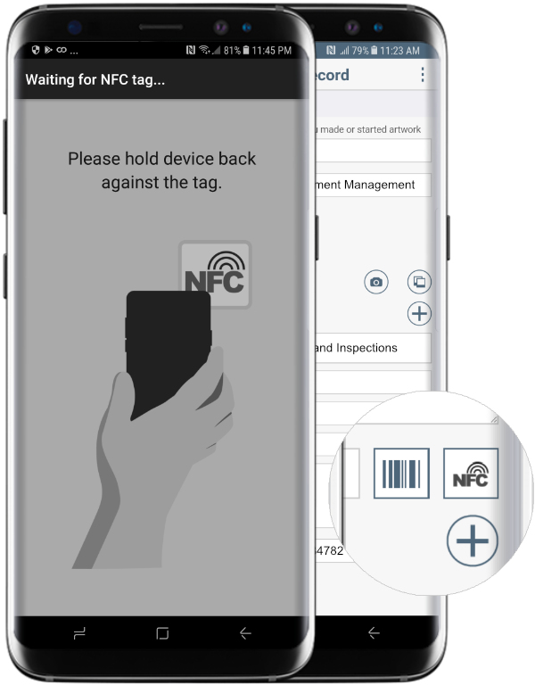 NFC in Business Process Management Apps