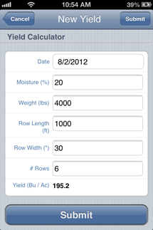 Yield Calculation