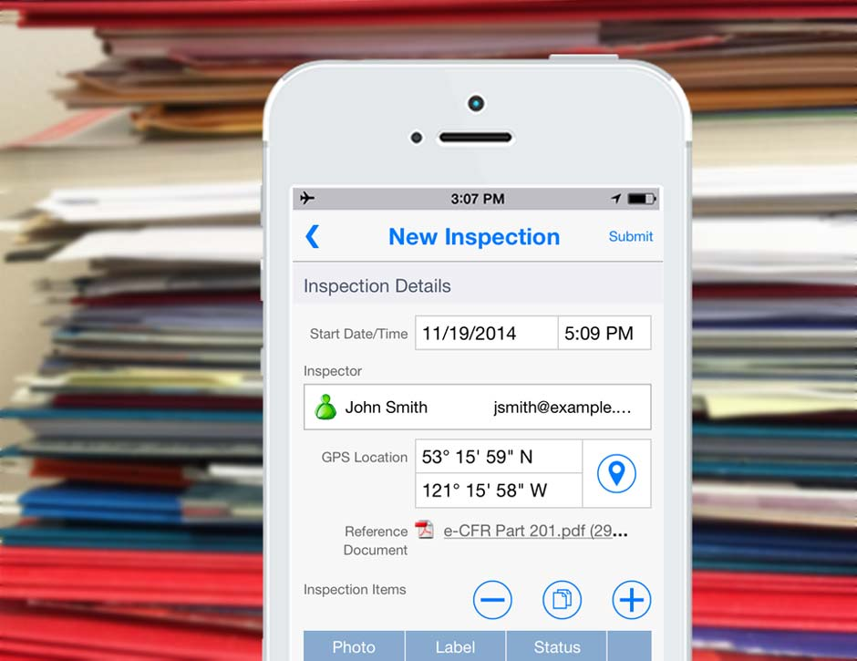 Inspection Mobile Forms