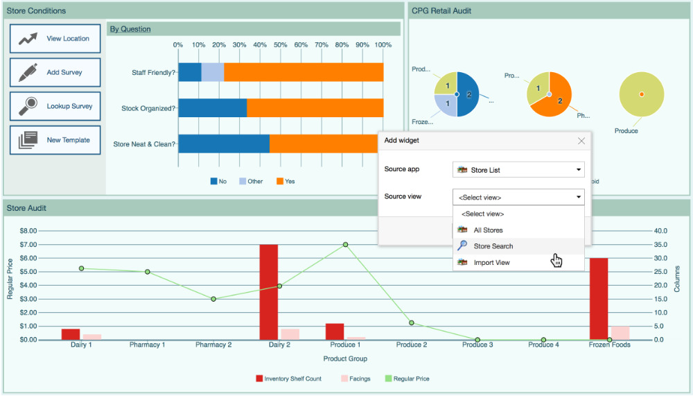 live data dashboard