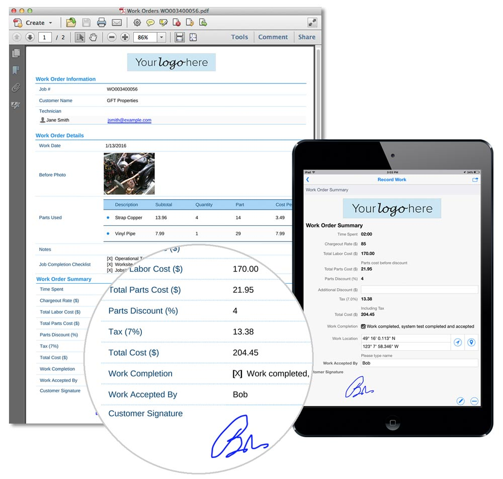 Mobile Field Service Management Flowfinity - Field service invoicing software