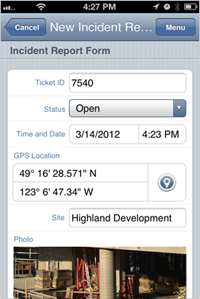Complete incident reports