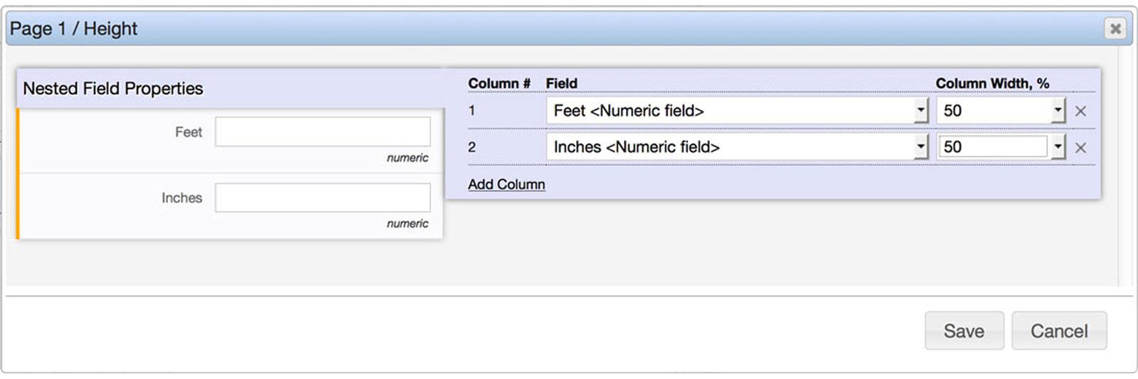 Flowfinity - Display Input Fields Across a Page