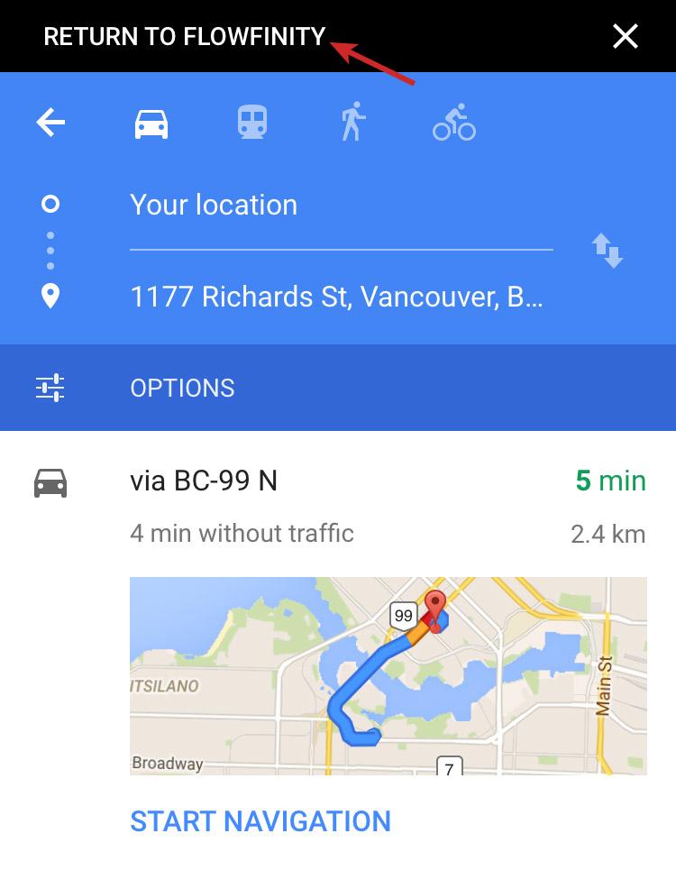 Flowfinity - Launch Google Maps on iOS